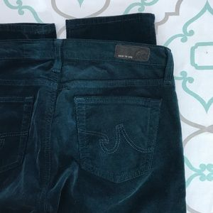 """💙👖💚AWESOME GREEN AG CORDS💚👖💙26 1/2 32.5"""" EUC"""